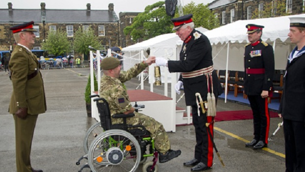 Two Military Amputees Carry Olympic Flame